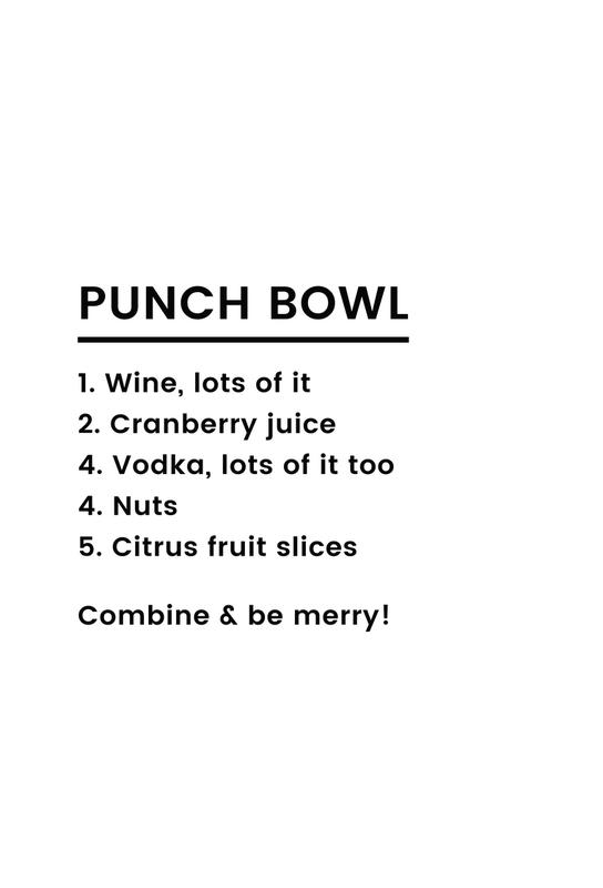 Punch Recipe Aluminiumtavla
