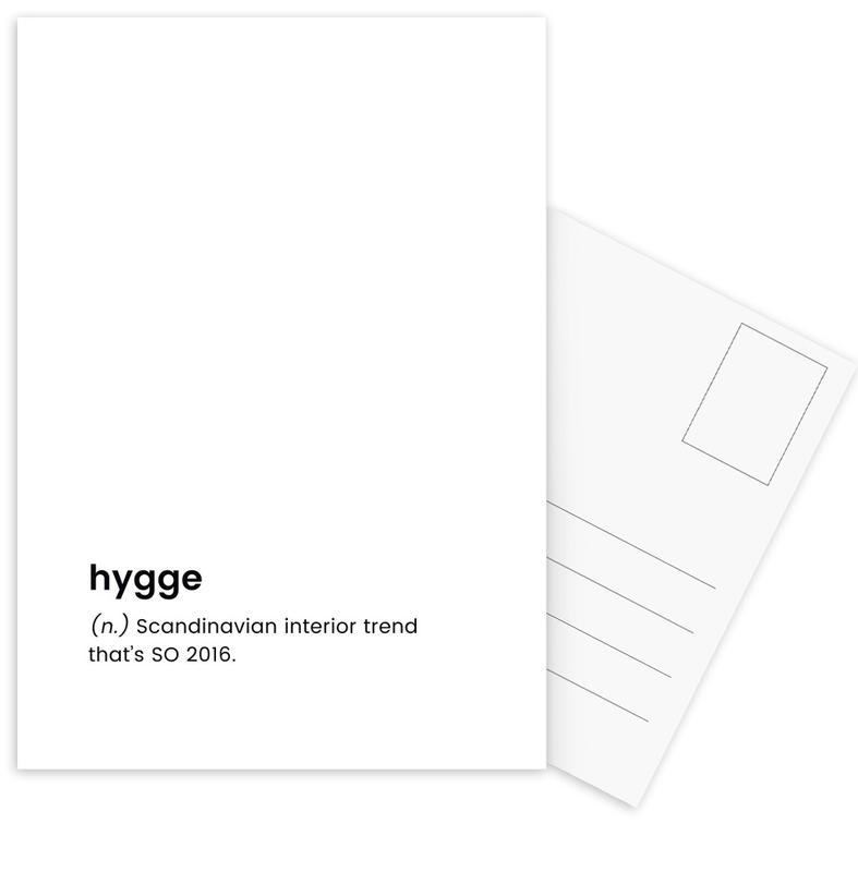 Hygge -Postkartenset