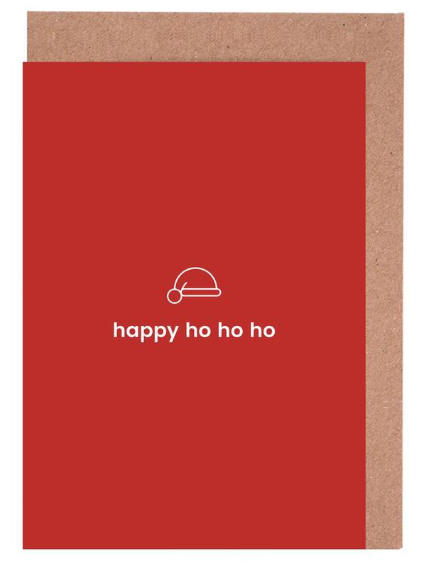 Weihnachten, Ho Ho Ho -Grußkarten-Set