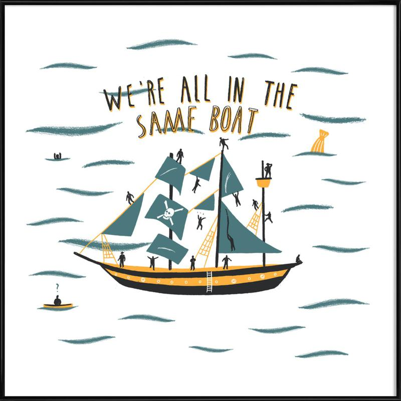 All in the Same Boat -Bild mit Kunststoffrahmen