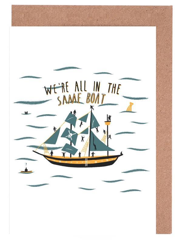 All in the Same Boat -Grußkarten-Set