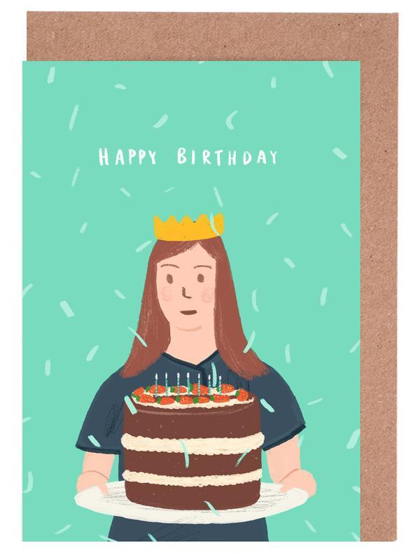 Birthdays, Cakes, Happy Birthday Cake Greeting Card Set