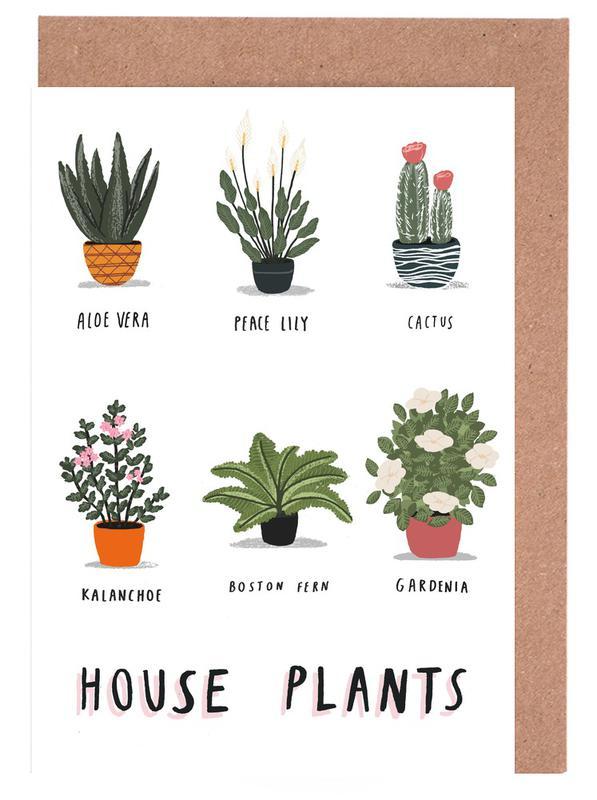 House Plants -Grußkarten-Set