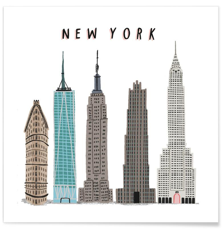 New York Buildings poster
