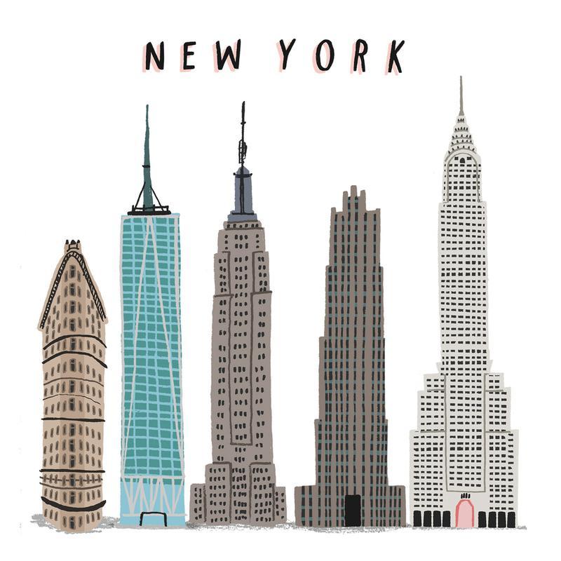 New York Buildings canvas doek