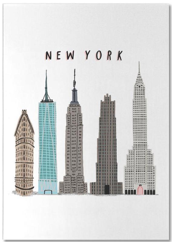 Gratte-ciels, New York, Monuments et vues, New York Buildings bloc-notes
