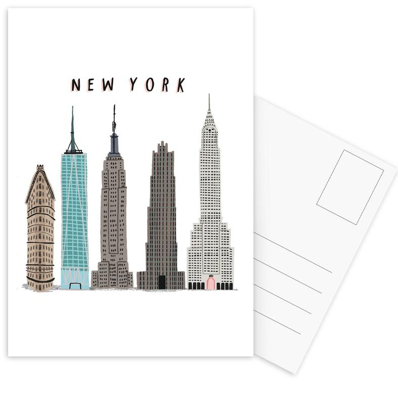 New York, Bezienswaardigheden en monumenten, Wolkenkrabbers, New York Buildings ansichtkaartenset