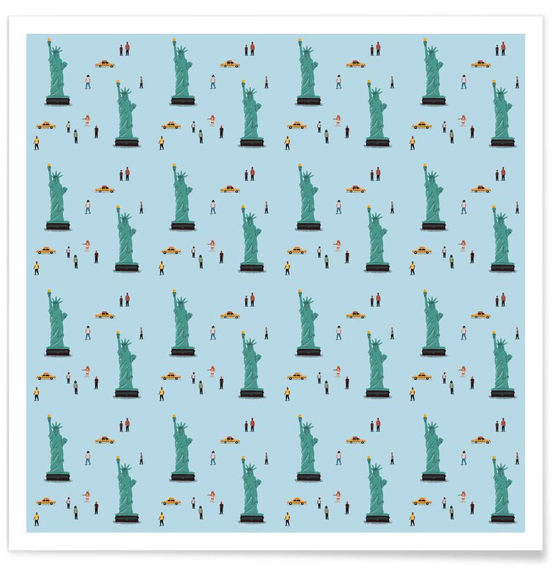 New York, New York Pattern affiche