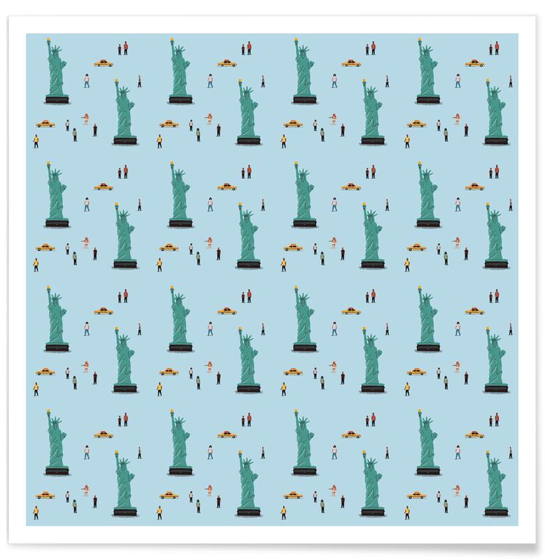 New York, New York Pattern Poster