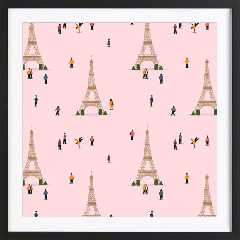 Paris Pattern Framed Print