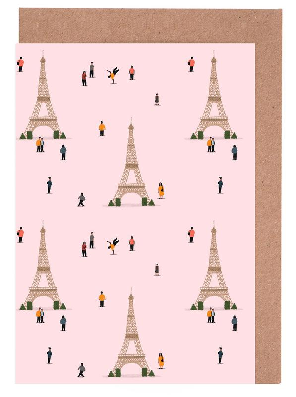 Paris Pattern Greeting Card Set