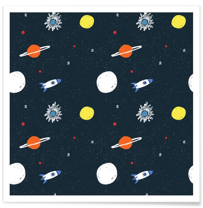 Planets Pattern Poster
