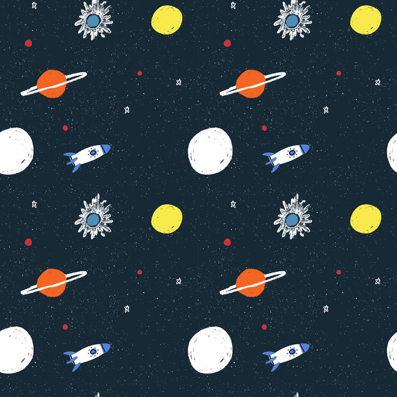 Planets Pattern Acrylic Print