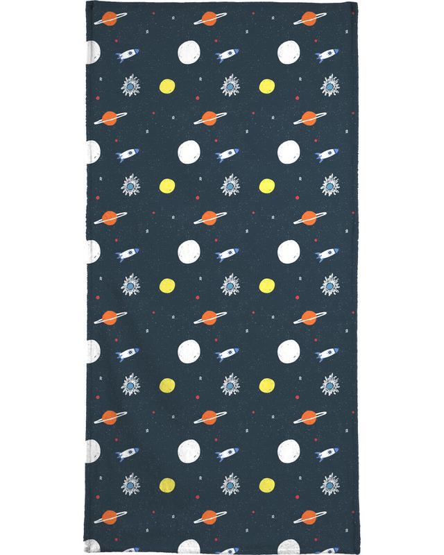 Planets Pattern Bath Towel