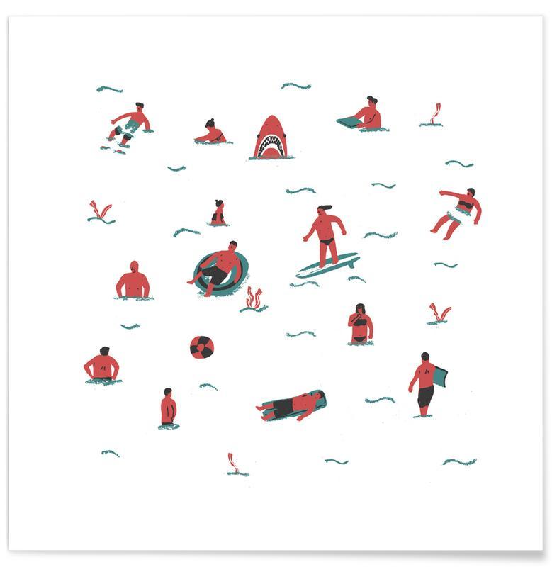 Schwimmen, Swimmers -Poster