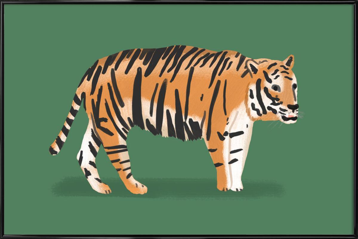 Tiger -Bild mit Kunststoffrahmen