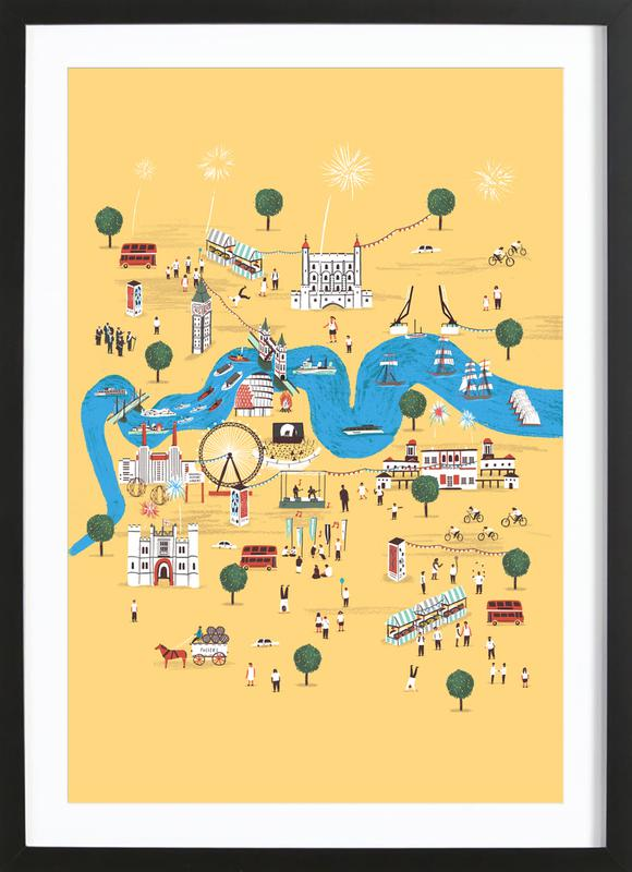 Totally Thames -Bild mit Holzrahmen