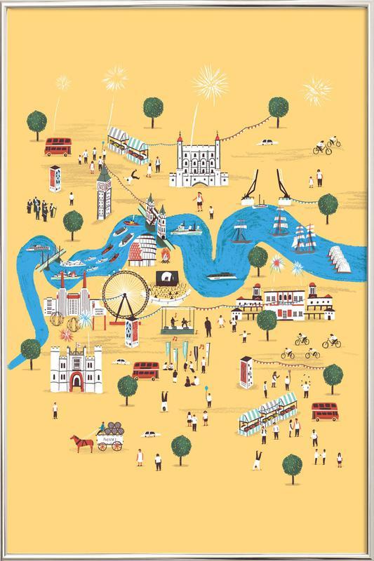 Totally Thames poster in aluminium lijst