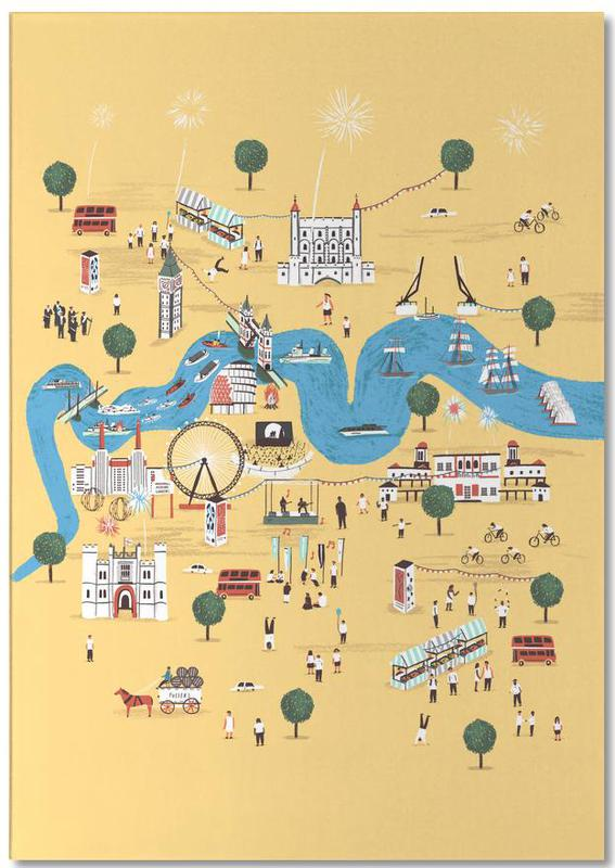 Cartes de villes, Londres, Totally Thames bloc-notes