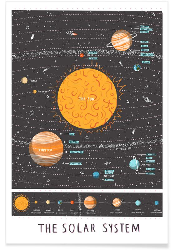 Arte para niños, Solar System póster