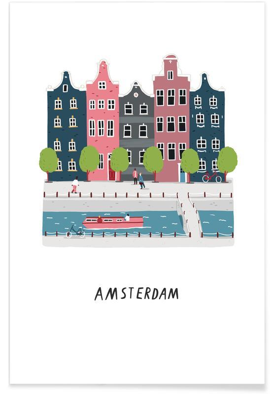 Amsterdam, Voyages, Amsterdam affiche