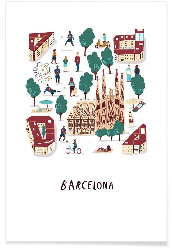 Reizen, Barcelona, Barcelona poster