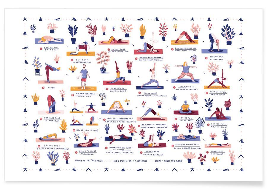 Yoga, Yoga Print Wall Art affiche