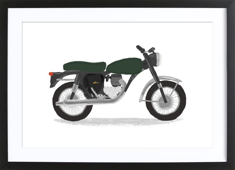 Classic Motorbike -Bild mit Holzrahmen
