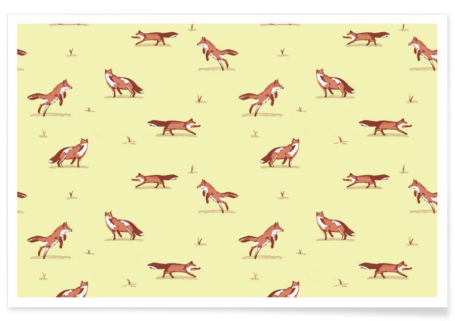 Vossen, Kunst voor kinderen, Foxes poster
