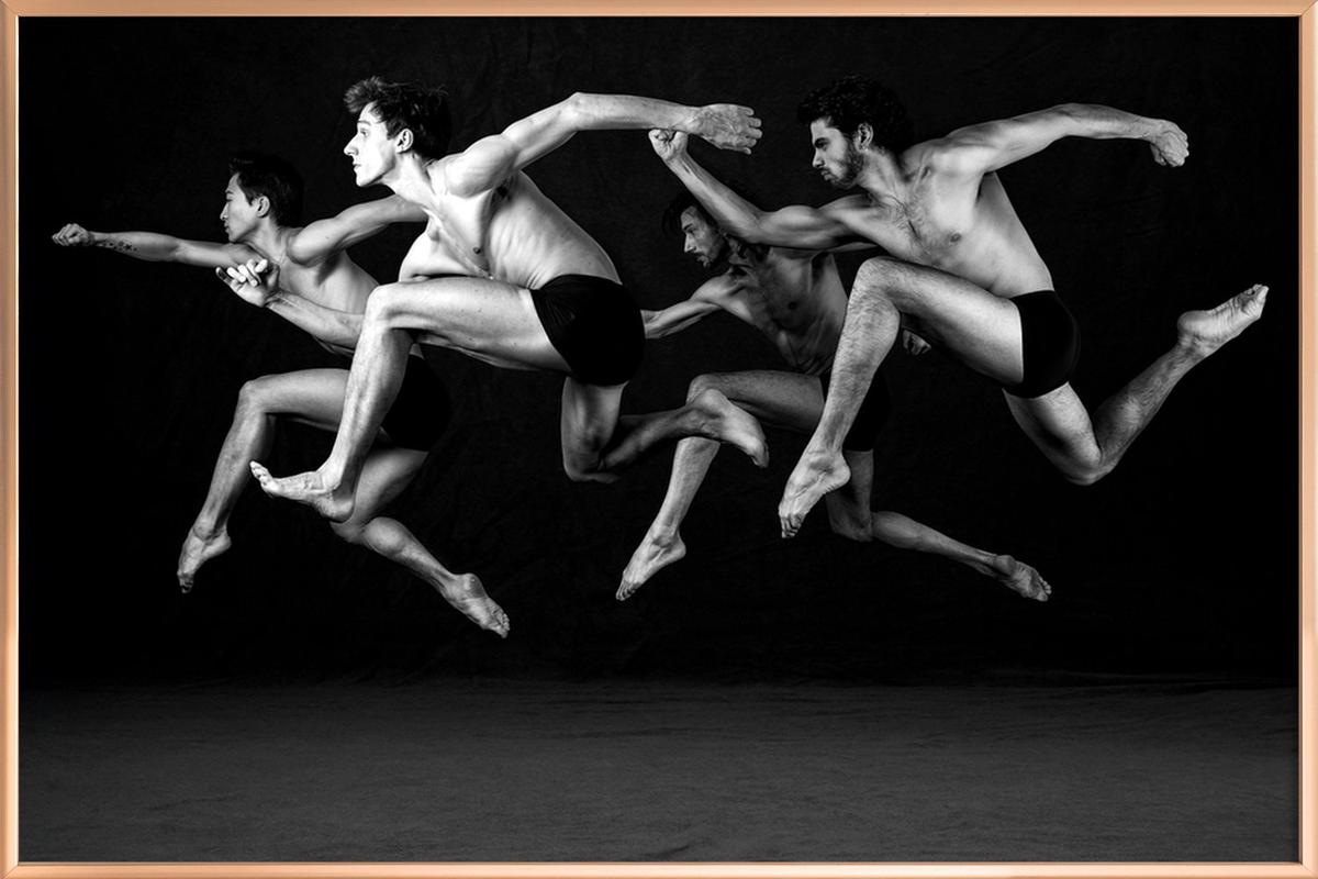 Dance, Dance, Dance 19 Poster in Aluminium Frame