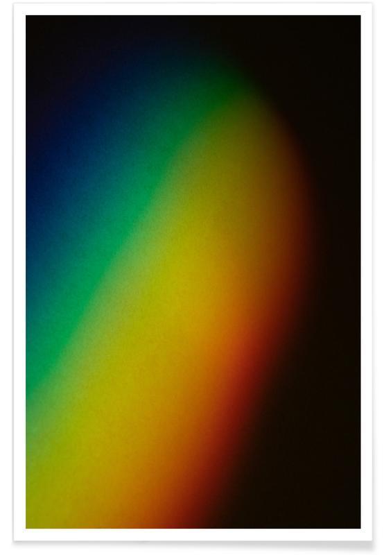 Lucht en wolken, Regenbogenfarben poster