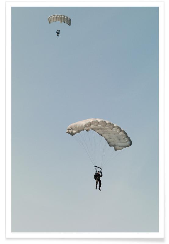 Airplanes, Fallschirmspringer Poster