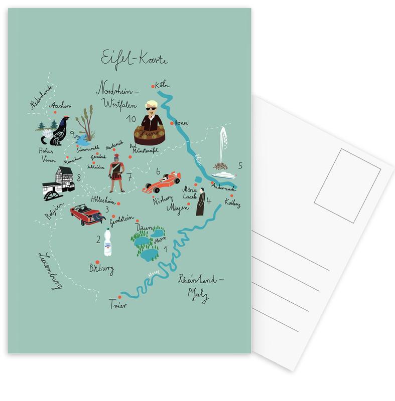 , Eifelkarte cartes postales