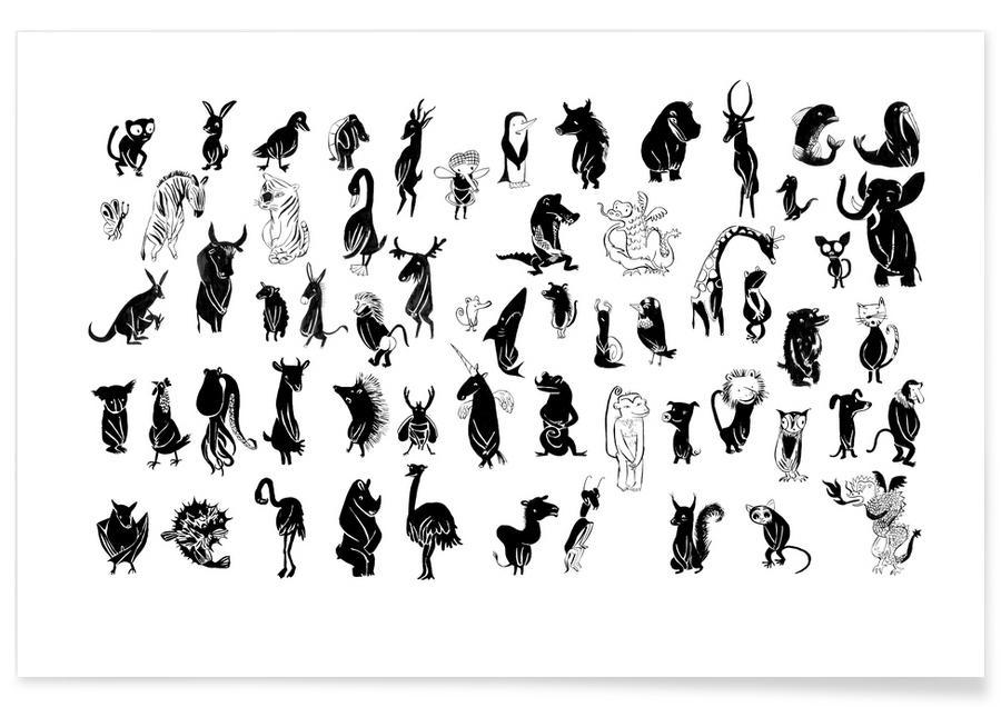 Schwarz & Weiß, Naked Black -Poster