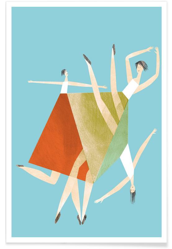 Dancing Blue Poster
