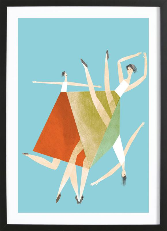 Dancing Blue Framed Print