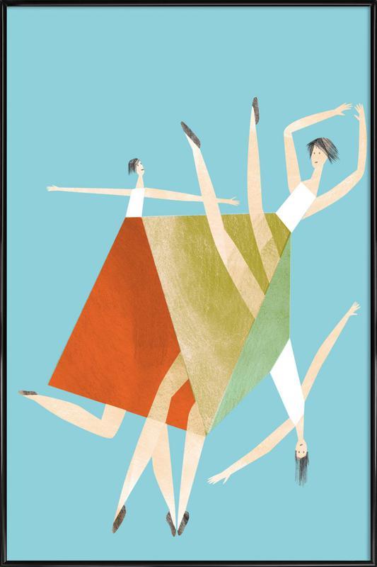 Dancing Blue Framed Poster