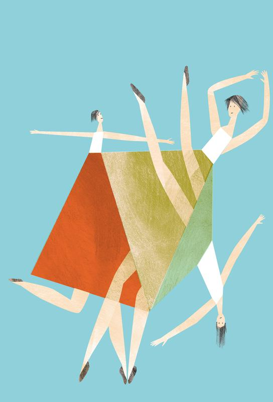 Dancing Blue Acrylic Print
