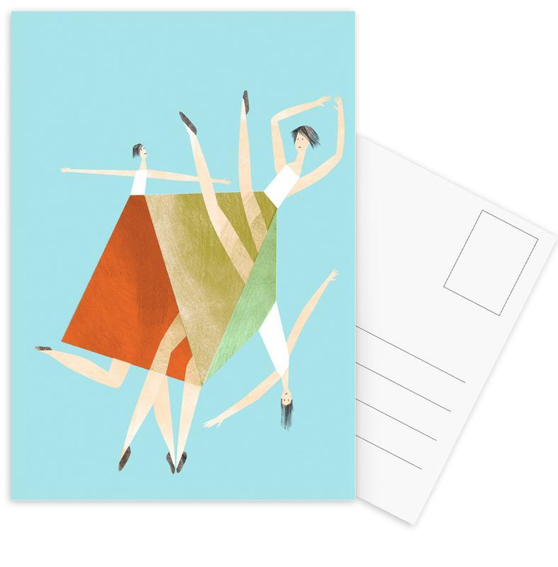 Danse, Dancing Blue cartes postales
