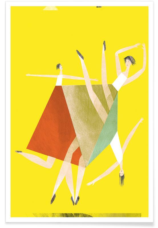 Tanzen, Dancing Yellow -Poster