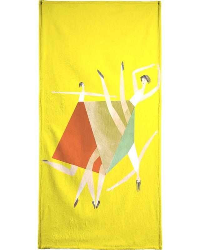 Dancing Yellow -Handtuch