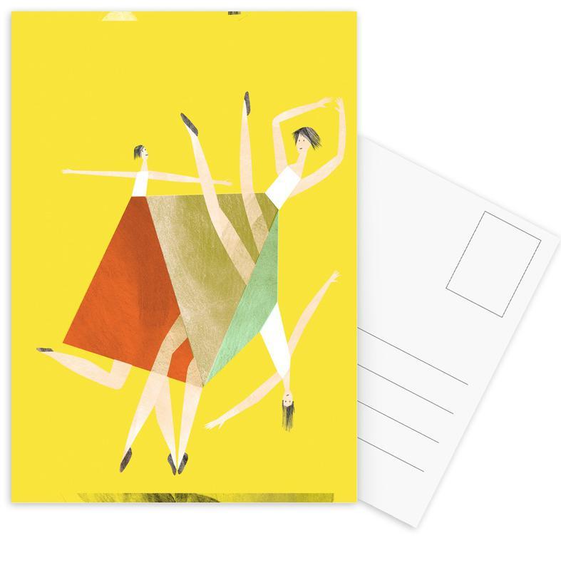 Danse, Dancing Yellow cartes postales