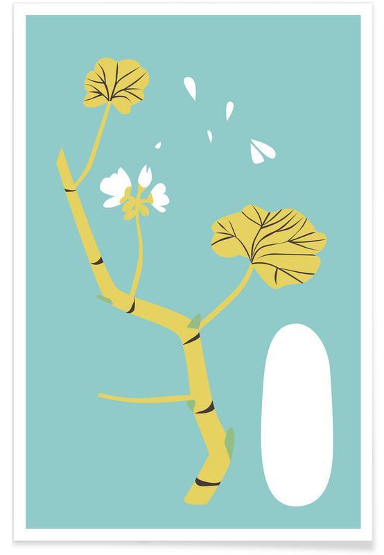 Blätter & Pflanzen, Geranium Blue -Poster