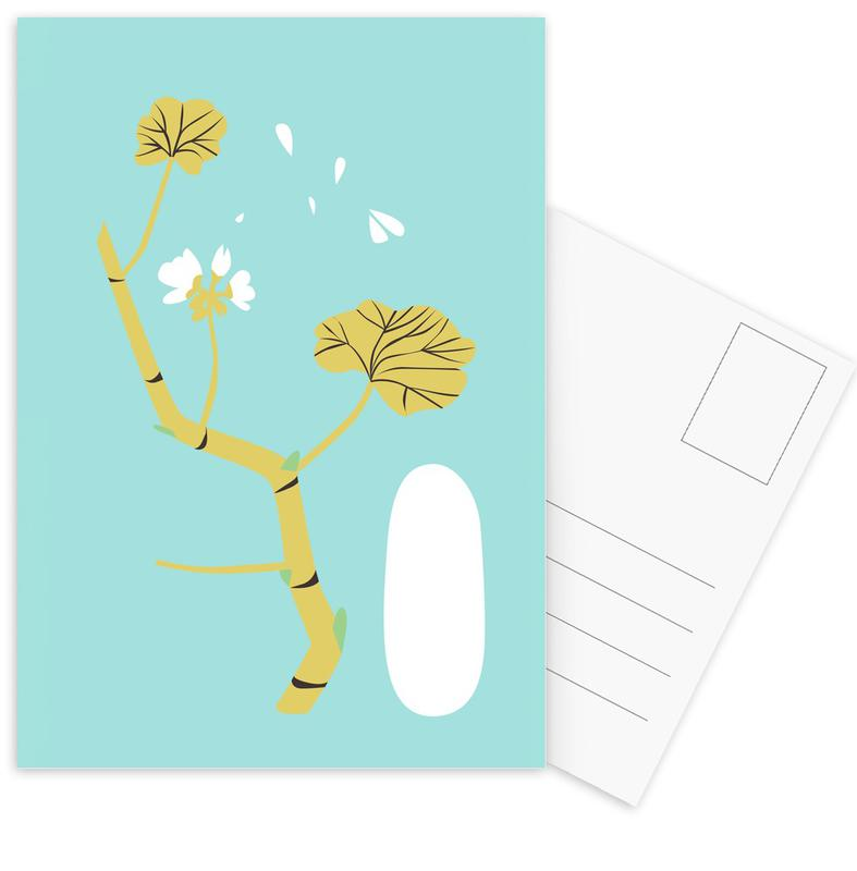 Feuilles & Plantes, Geranium Blue cartes postales