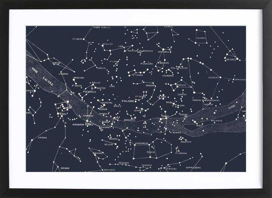 Carte du Ciel I stampa con cornice