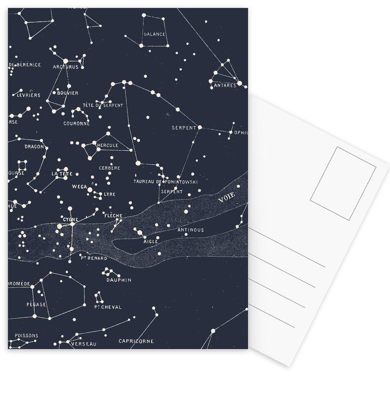 , Carte du Ciel I Postcard Set