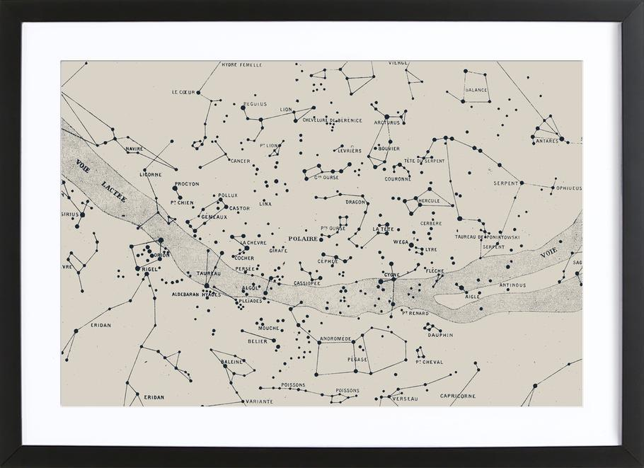 Carte du Ciel II Framed Print
