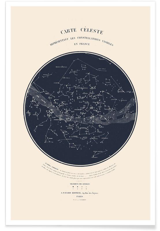 Carte du Ciel -Poster