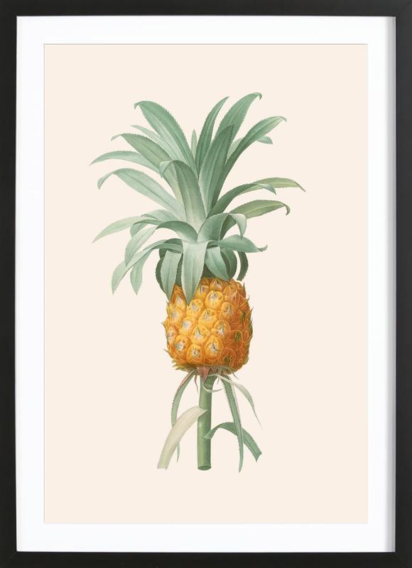 Ananas ingelijste print