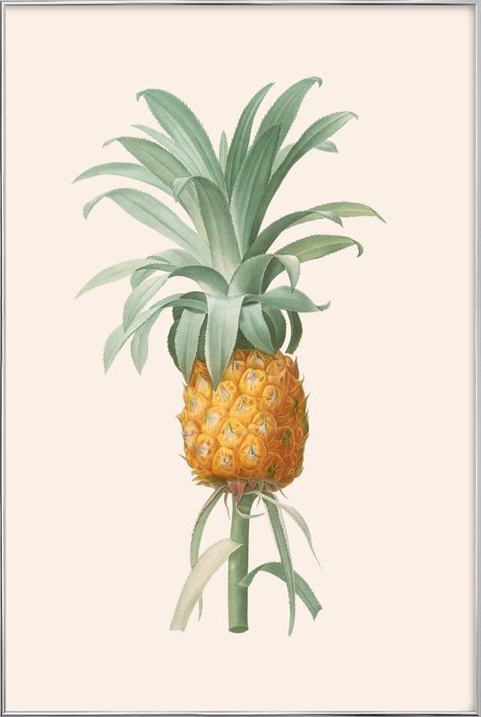 Ananas poster in aluminium lijst